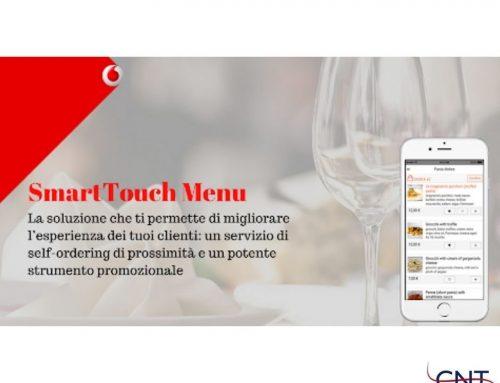 Vodafone smart touch menu', il digitale al servizio della ristorazione.